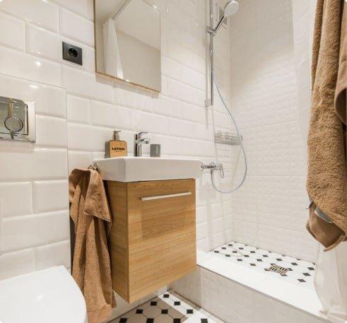 Ремонт ванной с дизайн-проектом
