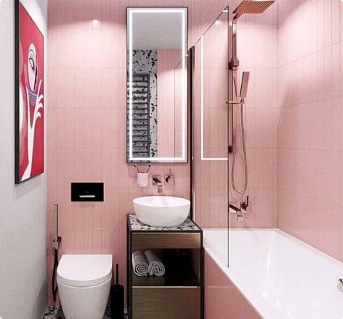 Ремонт ванной с дизайн-проектом 2