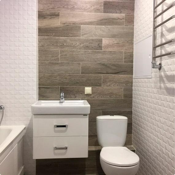Дизайнерский ремонт ванной на Савушкина, д. 19