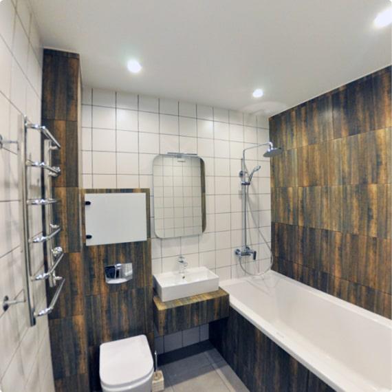 Дизайнерский ремонт ванной на Английском проспекте, д. 2