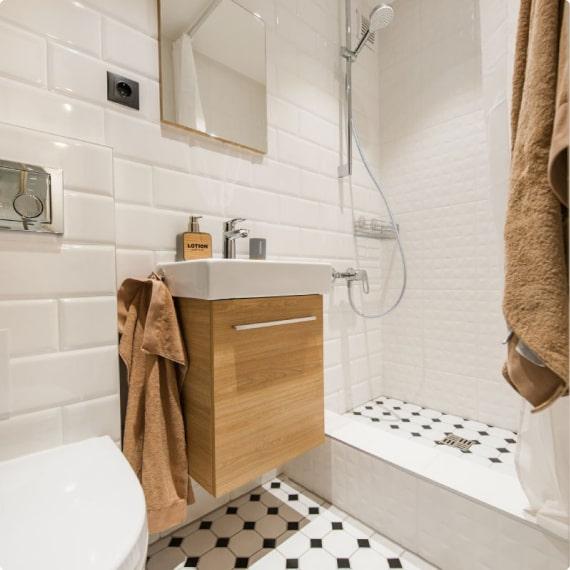 Дизайнерский ремонт ванной на Заставской, д. 46